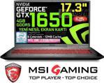 """MSI GF75 THIN 9SC-439XTR i7-9750H 8 GB 1 TB + 256 GB SSD GTX1650 17.3"""" Full HD Notebook"""