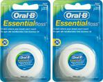 Oral-B Essential Floss Naneli 50 M 2 Adet Diş İpi