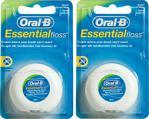 Oral-B Essential Floss Naneli 50 m 2'li Adet Diş İpi