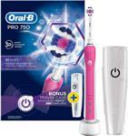 Oral-B Pro 750 3D White Pembe Şarjlı Diş Fırçası