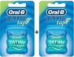 Oral-B Satin Tape Naneli 25 mt 2'li Paket Diş İpi