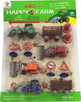 Oyuncak Çiftlik Seti 4 Sürtmeli Traktör Ve Aksesuarlı