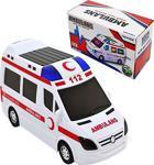 Oyuncak Pilli Sesli Hareket Eden Işıklı Ambulans 112 Acil