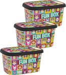 Oyuncak Saklama Kutusu Funbox 3 Lü Büyük Set 25 Lt