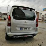 Peugeot Partner Tepe Difüzör Universal Plastik 4 Çıkış Egzoz Görü