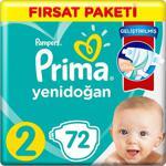 Prima Aktif Bebek 2 Numara Mini 72' li Bebek Bezi
