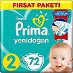 Prima Aktif Bebek 2 Numara Mini 72'Li Fırsat Paketi Bebek Bezi