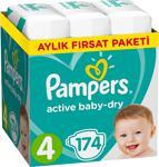 Prima Aktif Bebek 4 Numara Maxi 174 Adet Aylık Fırsat Paketi Bebek Bezi