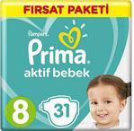 Prima Aktif Bebek Fırsat Paketi 8 No 31'li