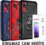 Samsung Galaxy A2 Core Kılıf Yüzüklü Mıknatıslı Tank Zırh + Cam
