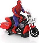 Sesli Işıklı 360 Derece Spiderman - Örümcek Adam Motorda - Motor Oyuncak