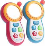 Sesli Işıklı Ve Müzikli Aynalı Ekranlı Oyuncak Bebek Telefonu