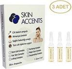 Skin Accents 3 adet Leke Açıcı Etkili Ampul Alman Serum Dermaroller Dermapen Cilt Bakım Serumu