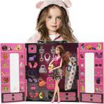 Sonsuz Hareket Bebekli Barbie Gardrobu-Çantalı Giysi Dolabı,30+ Kıyafet, Ayakkabı, Çanta ve Dahası..