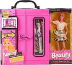 Suden Sonsuz Hareket Bebekli Barbie Gardrobu, Çantalı Giysi Dolabı