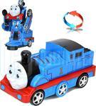Thomas Tomas Tren Transformers Dönüşebi̇len Tren Pi̇lli̇ Sesli̇ Ve Işikli Oyuncak
