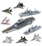 Uçak Gemisi Destroyer Kruvazör Ve Savaş Jeti Oyuncak Asker Seti