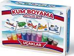 Uçaklar Kum Boyama Aktivite Seti 5\'li Paket - Kumbo Kum Boyama