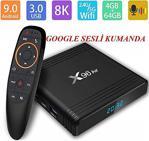 X96 Air 4GB 64GB Android 9.0 TV BOX Amlogic S905X3 G10 Air Sesli Kumanda 2.4G 5G çift Wifi BT4.1 8K