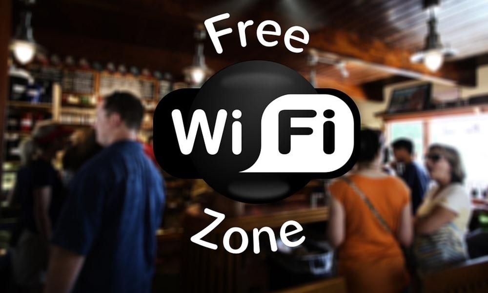 Zona Wi-Fi en un bar