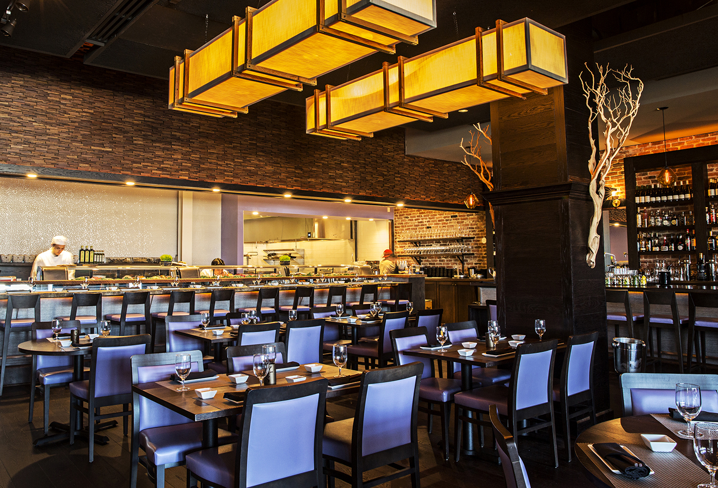 This Chic Westside Spin Off Of A Charleston Original Delivers Anese Dishes With Southern Flair Serving Both Traditional And Novel Sushi Along