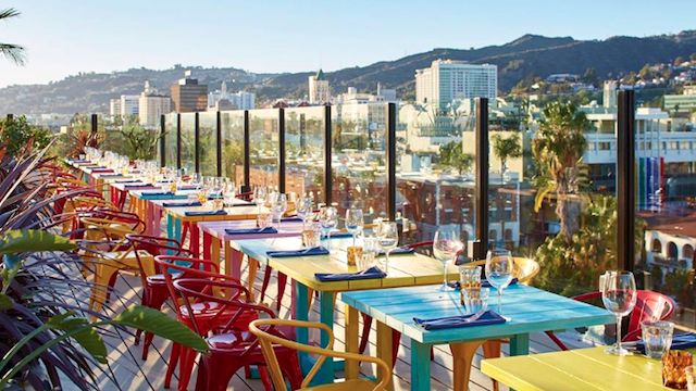 As Colorful The Neighborhood Around It This Hollywood Hotel Finally Debuted A Rooftop Restaurant And Lounge Just In Time For Spring Summer