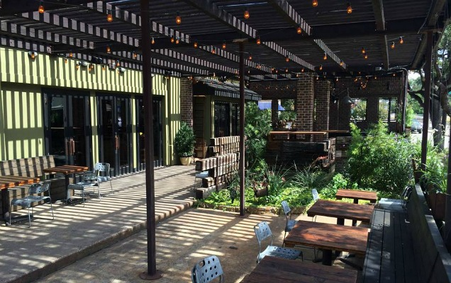 Patio Vibe: The Uptown Tavern And Restaurant Fosters A Convivial And Hip  Feel On Its Wooden Deck With Lush Greenery And A Corner For Games (above).