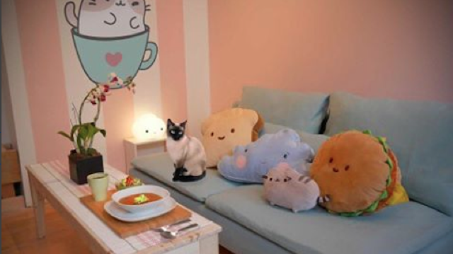 The Main Cafe Area Is Outfitted With A Wood Counter Emblazoned With The  Word Meow; The Cat Playroom Features All Sorts Of Comfy Furniture For Cat  And Human ...