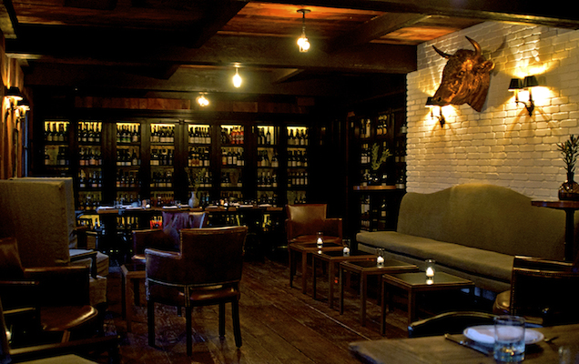 A O C The Patio Is Amazing But For Private Get Together Upstairs Wine Room Most Intimate With Wood Paneled Walls Shelves Lined Wines