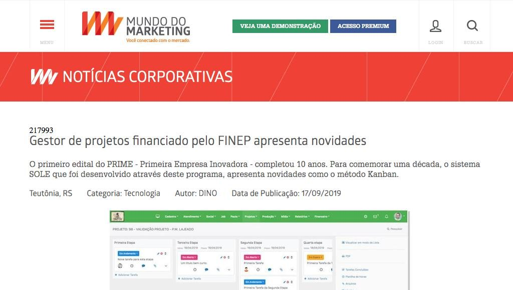 PRIME, programa do FINEP.