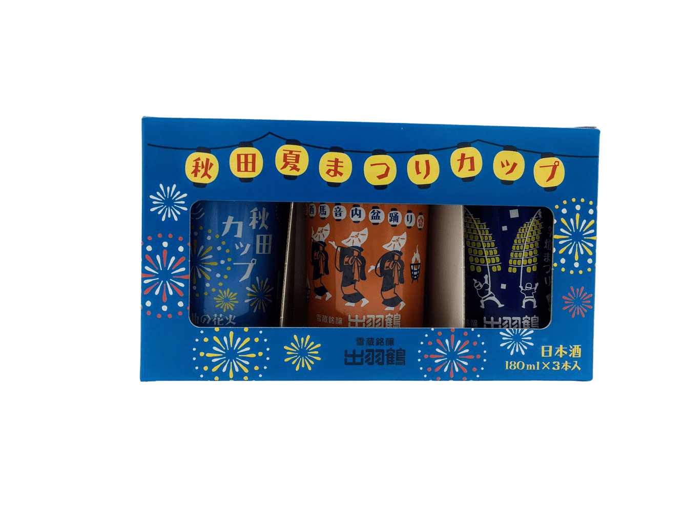 ZEN 清酒日常 - 出羽鶴 夏祭杯裝純米酒[180ml x 3]