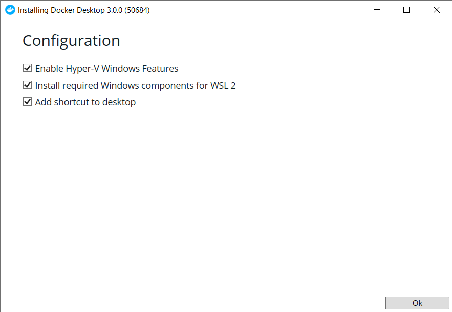 Install Configuration with Hyper-V