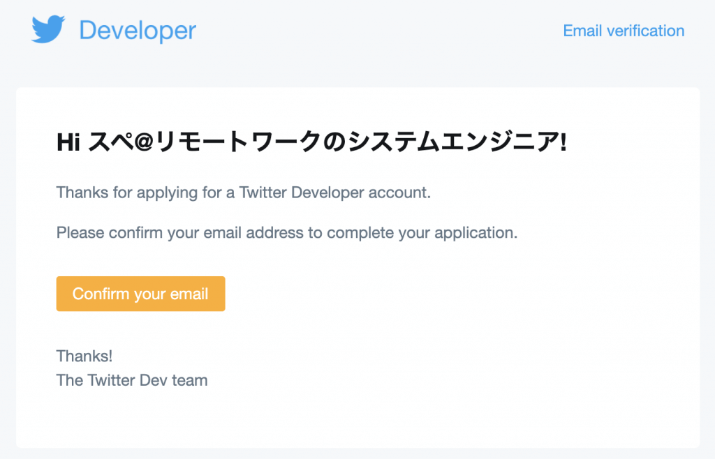 Verify your Twitter Developer Account