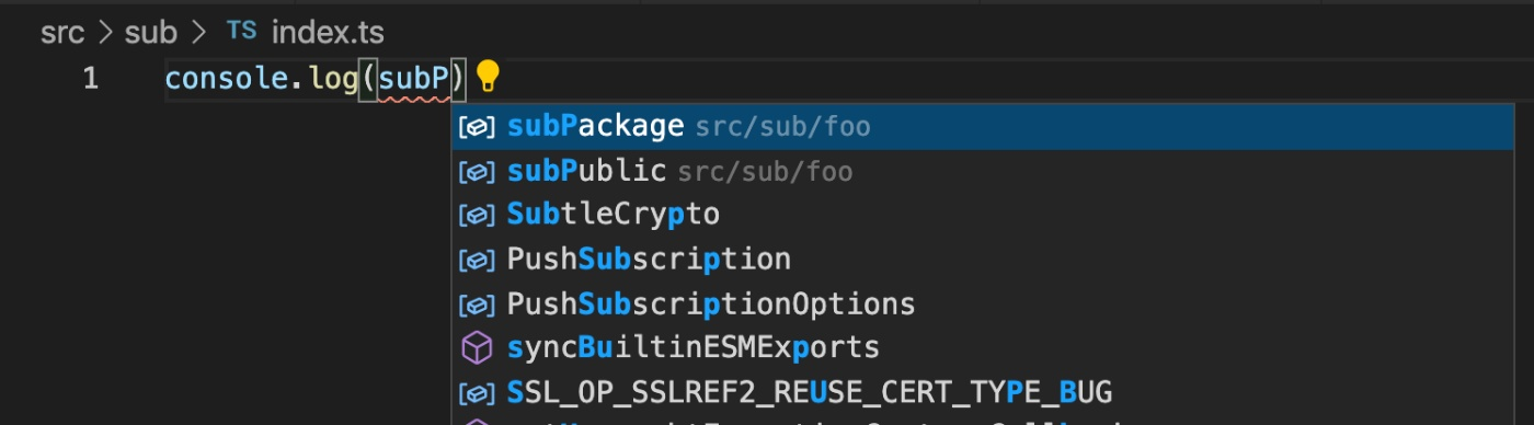 src/sub/index.tsのスクリーンショット