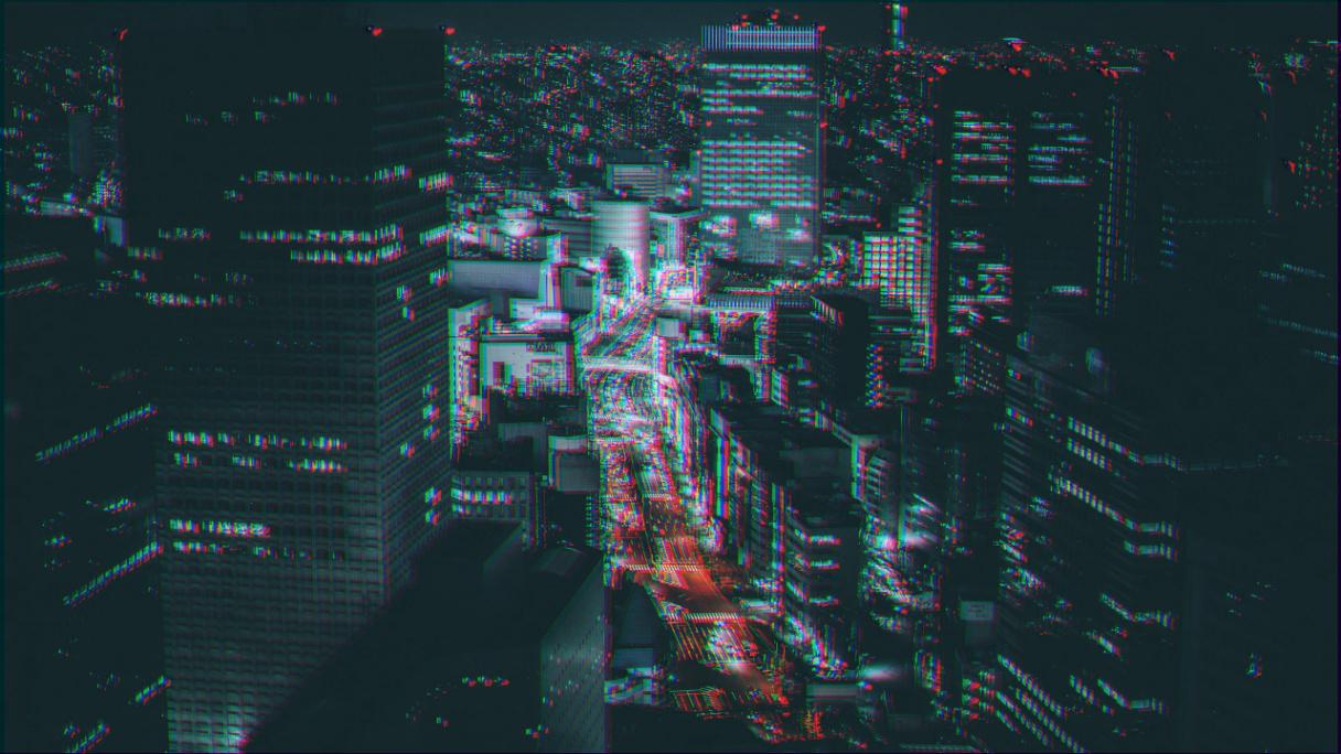RGB をずらした画像