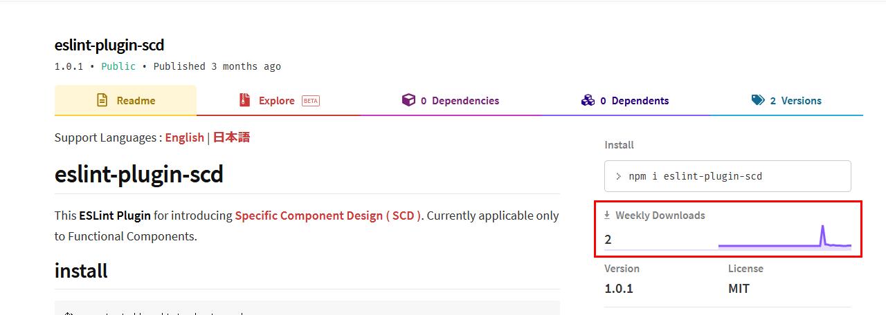 eslint-plugin-scdのnpmページ