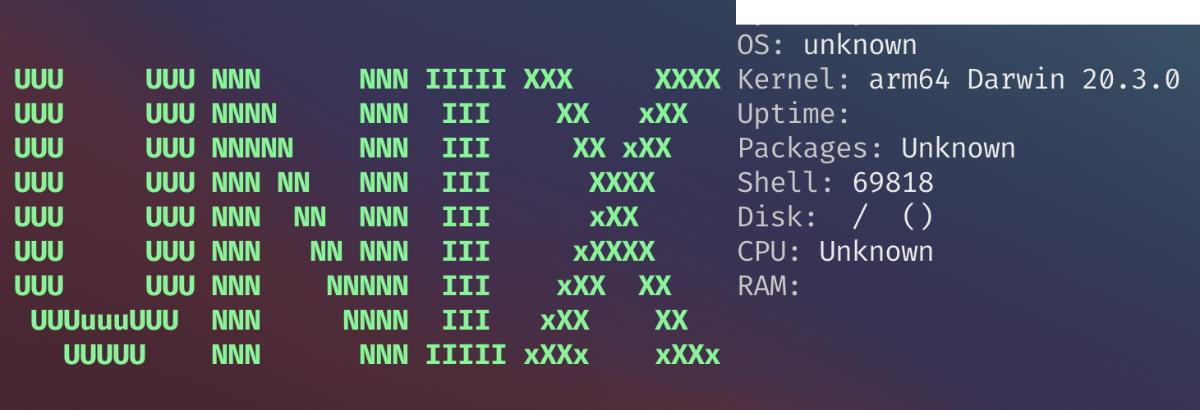 macで実行した様子