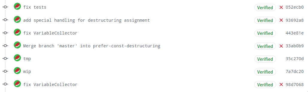 dirty commit log