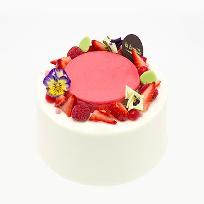 Rose & Raspberry Chiffon Cake法國玫瑰红桑莓