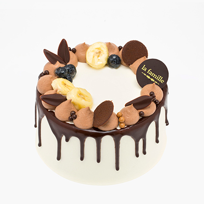 Banana & Chocolate Chiffon Cake完熟香蕉朱古力