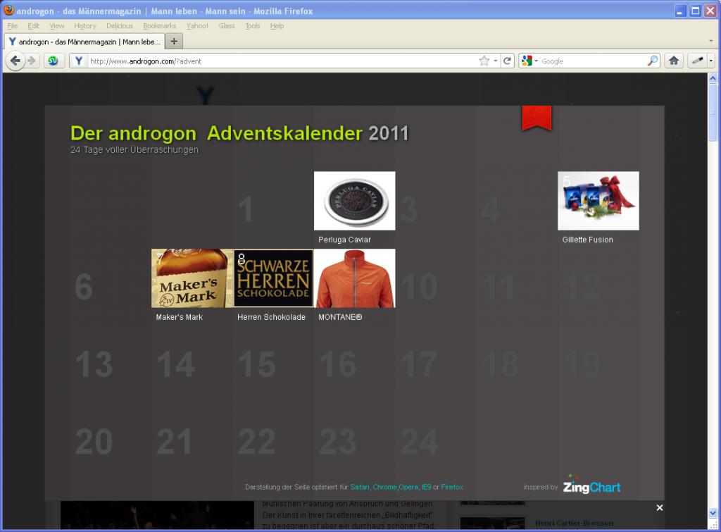 Der Androgon Adventskalender 2011