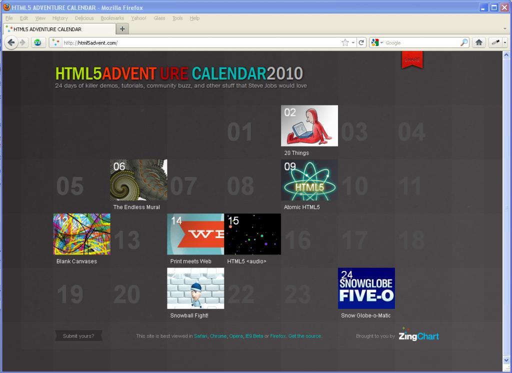 HTML5 Advent(ure) Calendar