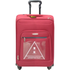 Aristocrat A-Lite Red 4 Wheel Strolley 78 cm 1 pc