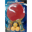 AVM Sports Table Tennis Set With 3 Balls in Blister Pack 1 pc