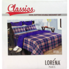 Bianca Castilo 100% Cotton Double Bed Sheet 88 x 96 cm 110 1 pc
