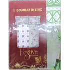 Bombay Dyeing Festiva Cotton Double Bedsheet 144 Assorted 1 pc
