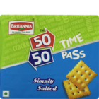 Britannia 50-50 Time Pass Classic Salted Biscuits 150 g