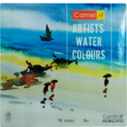 Camlin Artists Water Colours 18 Shades 9 ml