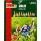 Camlin Colour Pencils Half Hexa 88 mm Plus sharp 12 Nos