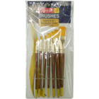 Camlin Synthetic Gold Flat Brushes 7 pc